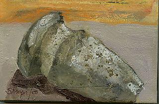"""Indian Axe, Oil on Canvas, 4"""" X 6"""""""
